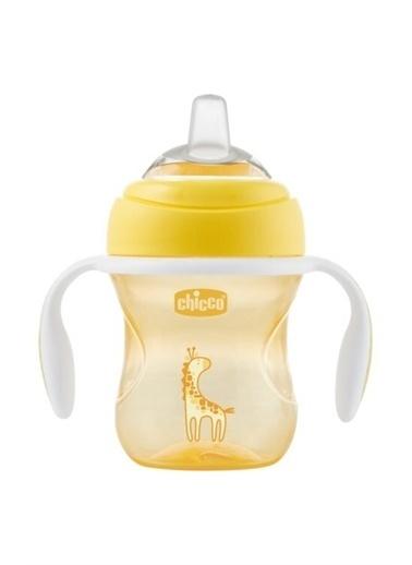 Chicco Chicco Yumuşak Uçlu Geçiş Bardağı 4+ Ay Unisex 200 ml Sarı